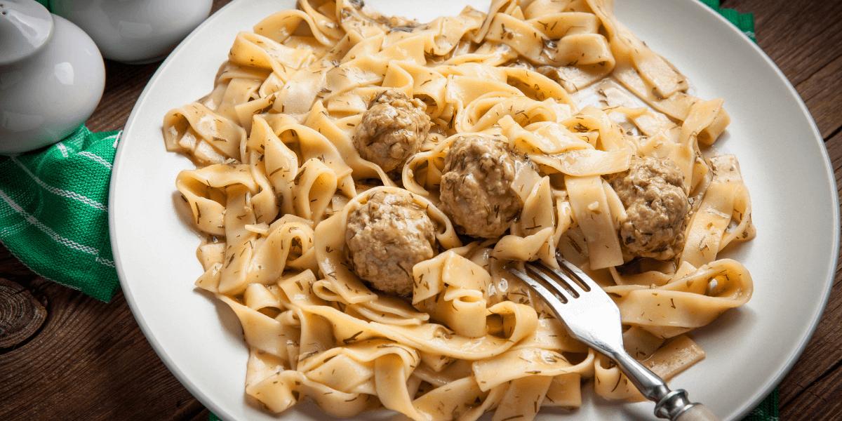Picture of meatball stroganoff recipe prepared